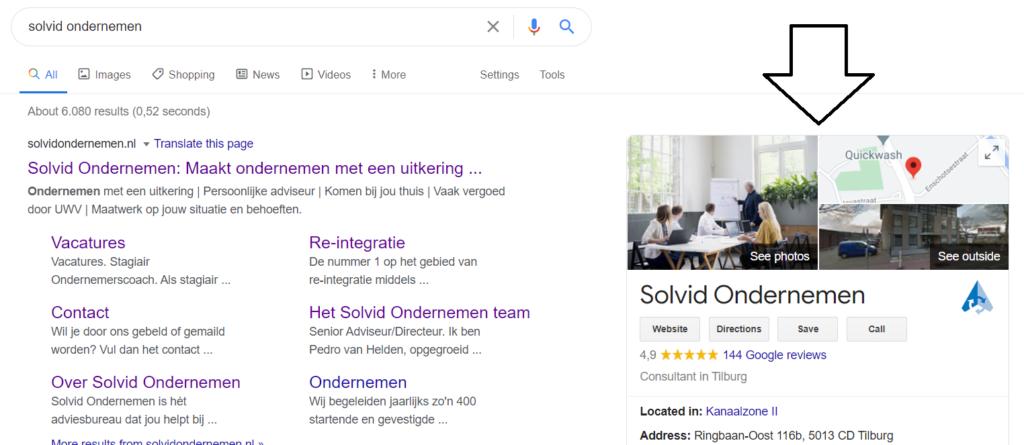 Hoger in Google door Google Mijn Bedrijf