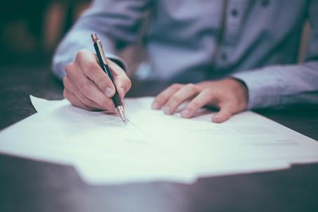 Handtekening officieel begin van eigen praktijk